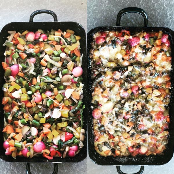#frühling #radieschen #spargel #polenta #frühlingszwiebel #riess #auflauf #überbacken #parmesan #lunch #gesund #begeisterei💕 #vorarlberg ...