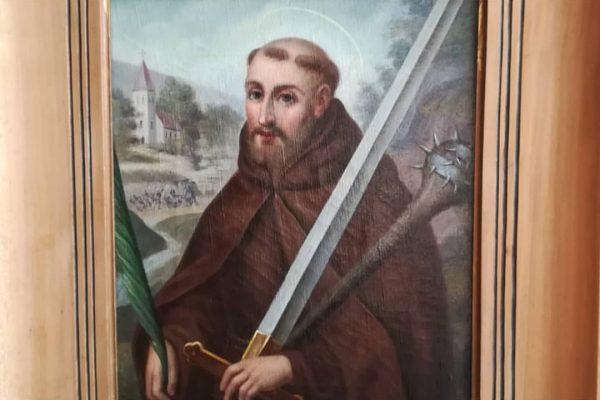 Florus Scheel d. Ä. (1834 -1936) Ölgemälde des Hl. Fidelis von Sigmaringen nach einem Stahlstich von Carl...