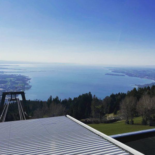 Trübe (Wetter-)Tage am Bodensee. Zum Glück sind wir letzthin noch auf's Dach gestiegen ...