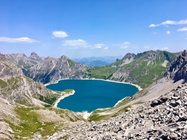 Yesterday I said #lünersee is heart-shaped 💙 You cannot see this shape from ...