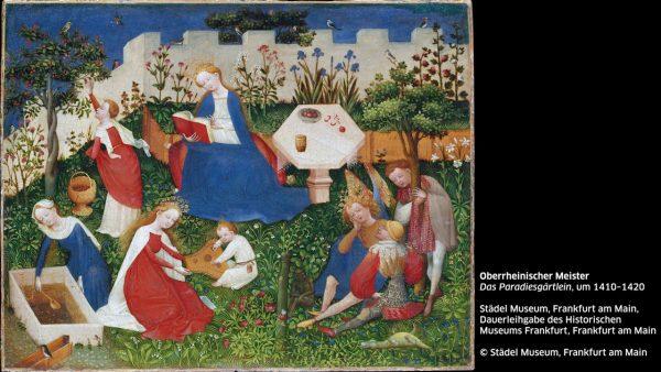 KUB Sonic Views 1: Oberrheinischer Meister, Das Paradiesgärtlein, um 1410–1420