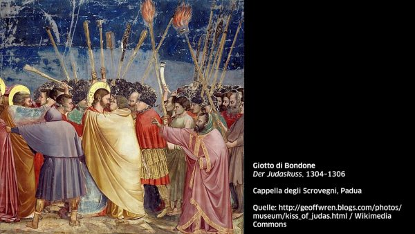 KUB Sonic Views 4: Giotto di Bondone, Der Judaskuss, 1304–1306