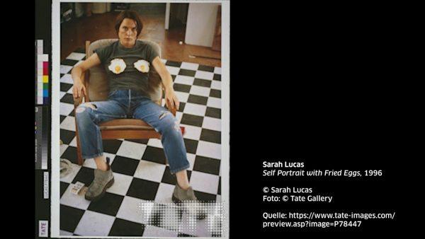 KUB Sonic Views 8: Sarah Lucas, Self Portrait with Fried Eggs, 1996