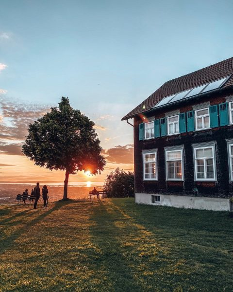 With this perfect sunset over Lake Constance we jump into #feierabend 😎 🤸‍♀️ ...