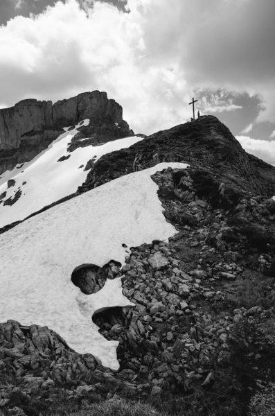 Der Hohe Ifen hatte leider noch etwas zu viel Schnee, um den Gipfel ...