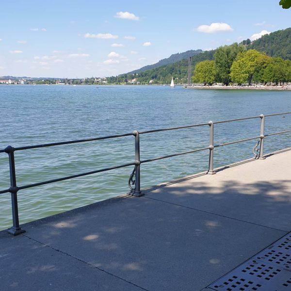 Ich kam. Ich sah. Das Bodenseeufer in der Landeshauptstadt. #venividivorarlberg #visitvorarlberg #visitbregenz Bregenz