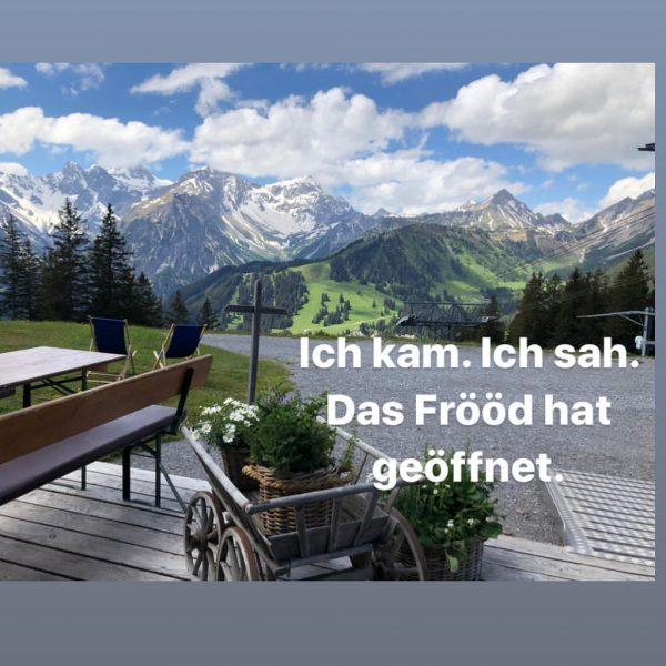 Direkt am Burtschasattel auf 1.680 m gelegen begeistert das FRÖÖD mit fantastischem Weitblick, gelebter Gastfreundschaft auf Vorarlberger...