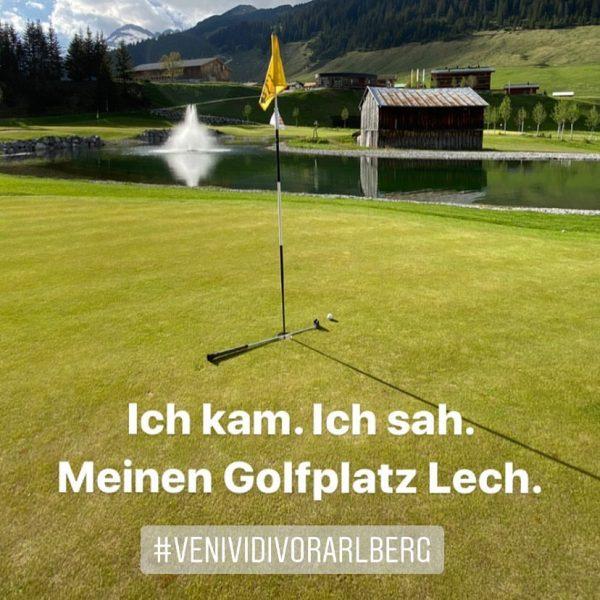 Golferherzen schlagen höher - am höchstgelegensten Golfplatz Österreichs🏌️♀️🏌🏿♂️😇🍀 #roggal #lechzuers #arlberg #mountains #hiking ...