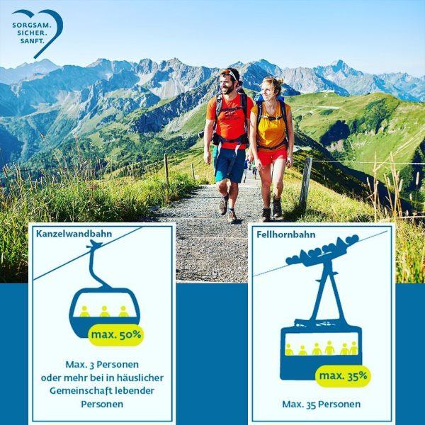 Am Samstag geht es mit der Fellhorn- und Kanzelwandbahn sowie dem Allgäu-Coaster und ...