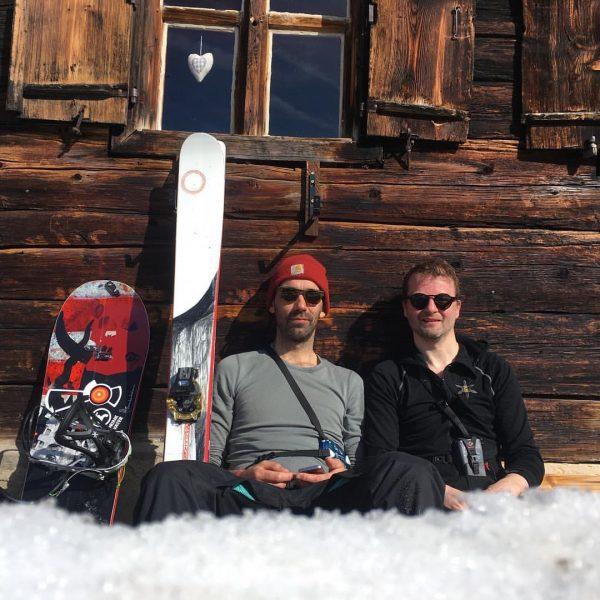 Chillin mit @joergmitoe auf der #ronggalpe im schönen Montafon. Die geplante Gipfeltour mussten ...