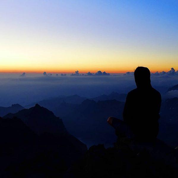 Das Motto der Wanderung: 40 Minuten zu früh auf dem Gipfel ... Aber ...