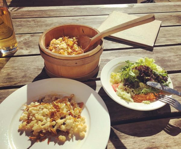 #bestfood #cheese #lunch #egenderjagdgasthaus #photooftheday #enjoy #käseknöpfle Jagdgasthaus Egender
