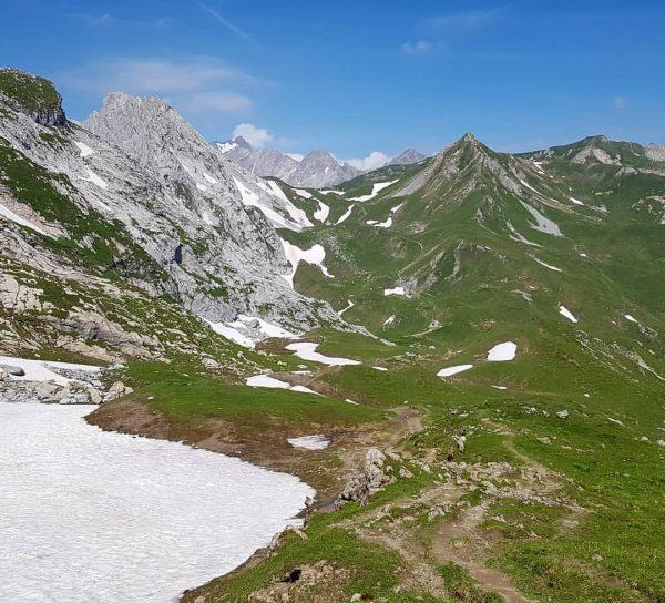 Trailrunning anyone? Last long run preparing for next weeks Walser Trail @walser_trail_challenge . ...