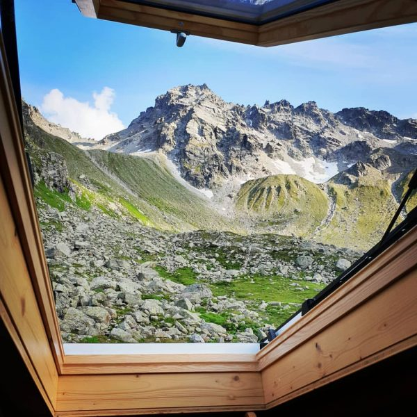 Bedroom views . . . . . #tübingerhütte #alpen #montafon #österreich #mountainview #bergweh ...