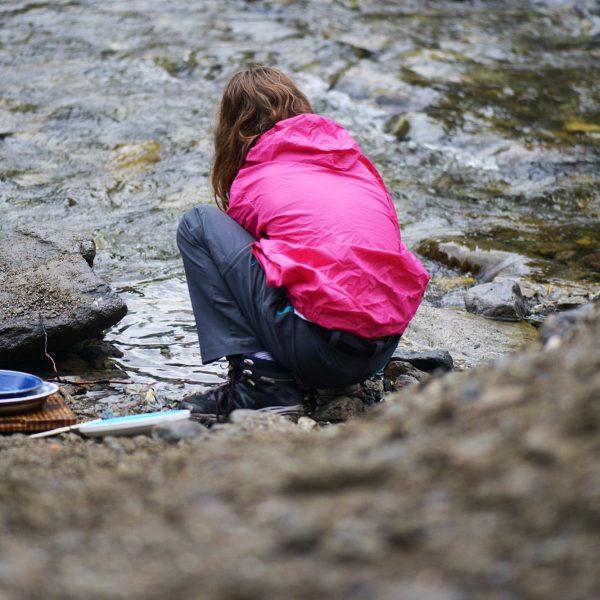 Abwasch auf dem #bowcamp in der #oasek77 in #klösterleamarlberg