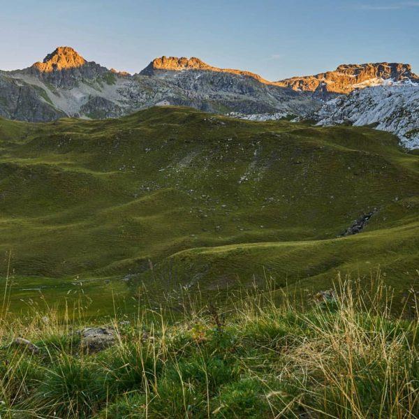 Blick von der Tilisuna Hütte...die letzten Sonnenstrahlen. #austria🇦🇹 #österreich #tschagguns #tilisunahütte #tilisuna #wandern ...
