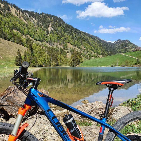Kleine Tour zum Lecknersee Immer wieder schön #cubebikes #biken #sportgotthard #Lecknersee #Bregenzerwald #Vorarlberg