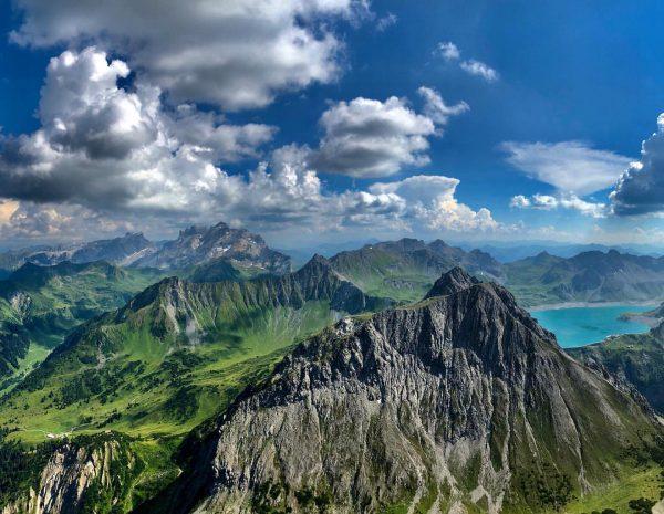 The Saulakopf is a 2.517 m high peak of the Rättikon group and ...