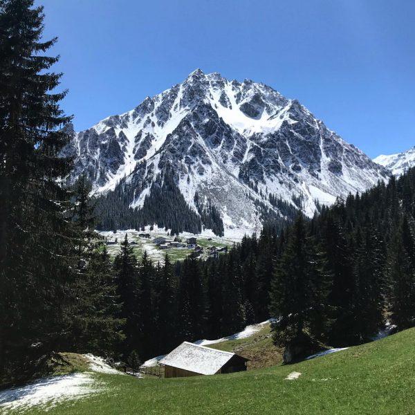 Heute Nacht hat Frau Holle noch einmal die Berge rund um Gargellen angezuckert... ...