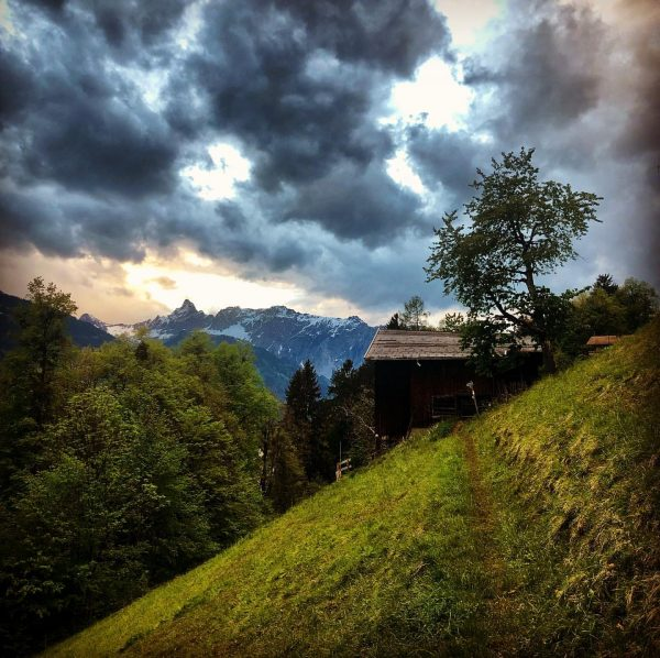 Dark clouds with holes. A perfect setting to use your imagination and dream ...