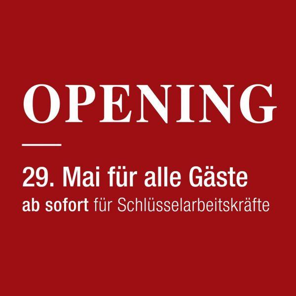 Die beste Nachricht der Woche 🤩 Das Hotel Schwärzler öffnet wieder die Hoteltüren. ...
