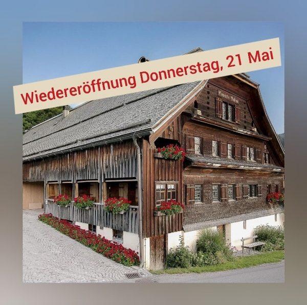 Endlich ist es soweit - am Donnerstag, den 21. Mai öffnen wir wieder ...