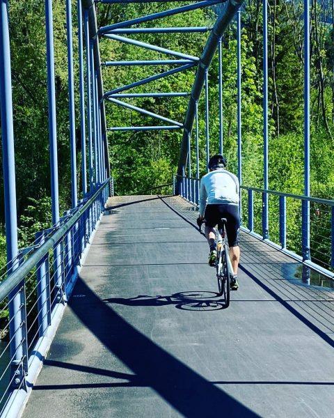 Over the bridge.... #bridge #river #over #forward #racebike #roadbike #bike #training #street #bikeonscott ...