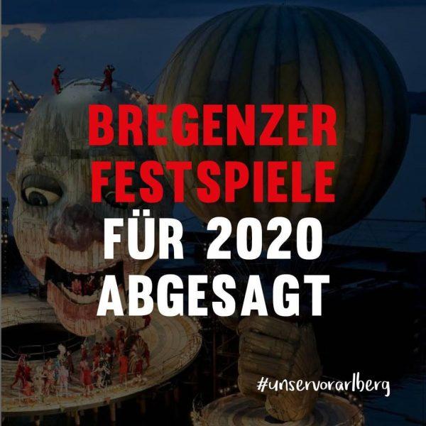 Nachrichten aus dem Kulturbereich: Die @bregenzerfestspiele müssen für dieses Jahr leider abgesagt werden. ...