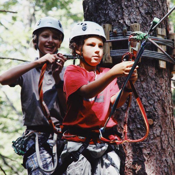 Der Kletterpark in Brand und der Waldseilpark im Montafon sind wunderbare Übungsbereiche, um ...