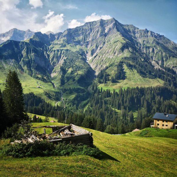 ...love these green slopes above Schröcken (photo from last August)... . . #vorarlberg ...
