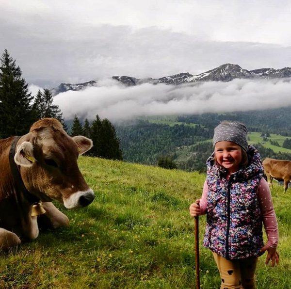 """""""Von den Alpen ⛰ unserer Heumilchbauern"""" Auch Filomena wächst auf einem Bauernhof in ..."""