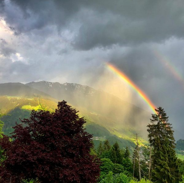 Rainbow in the sky. #rainbow #sky #sunshine #rain #nature #naturephotography #naturelovers #montafon #vorarlberg ...