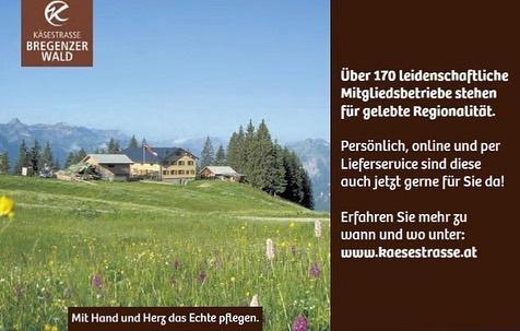 """Die KäseStrasse Bregenzerwald in der Zeitung der Wirtschaftskammer Vorarlberg zu sehen. """"Die Wirtschaft"""" ..."""