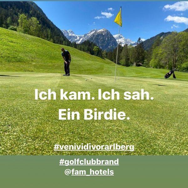 GOLFVERGNÜGEN PUR bietet der 18-Loch Golfplatz im Brandnertal. Eingebettet in eine traumhafte Natur-Kulisse ...