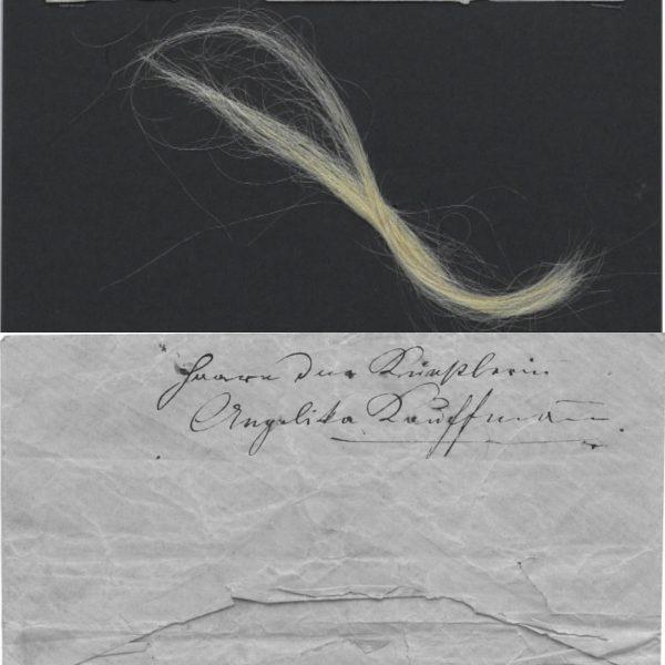 Eine Haarlocke von Angelika Kauffmann (1741-1807) ist ein weiteres Highlight unserer aktuellen Ausstellung ...