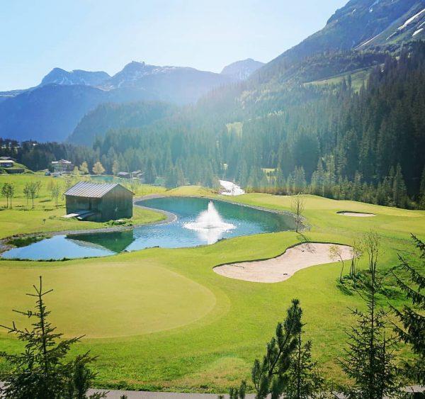 A lot of green blue and a little white #golfclublech #gclech #lechzuersamarlberg #holz7 ...