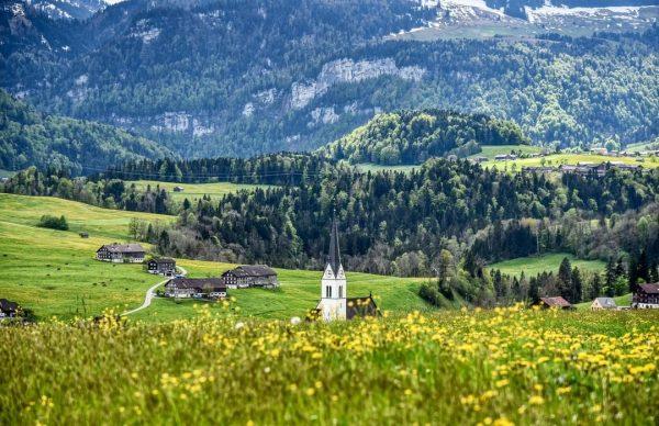 Römisch-katholische #Pfarrkirche Egg im #Bregenzerwald in #Vorarlberg Egg, Austria