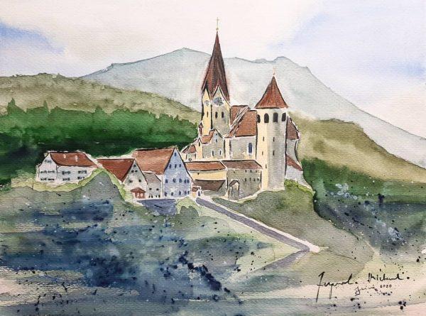 ...hab mir mal ein bisschen mehr Zeit genommen: die Basilika in Rankweil...mir gefällt ...