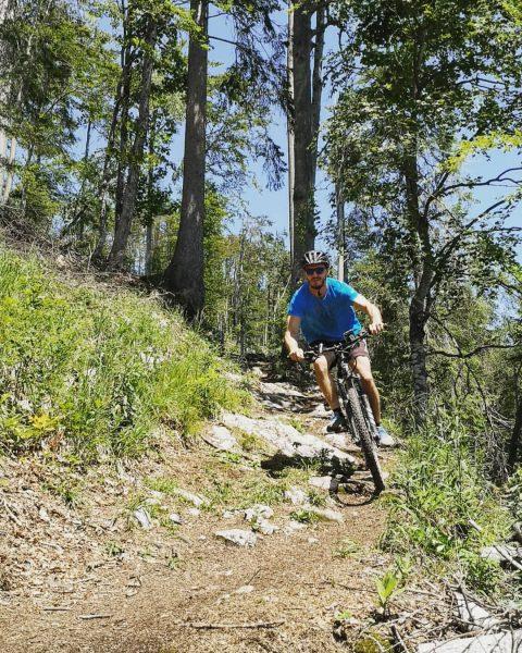 No name trails are often the best 😉 . Rider: @marcel_snb www.mtbtoursandtrails.com #visitvorarlberg ...