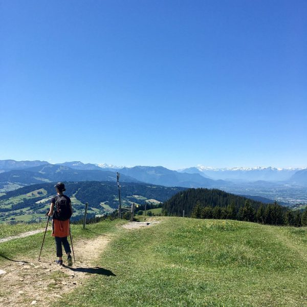On top of #hirschberg with view to the #swissalps #minweag #etappe2 #wanderprojekt #2020 #tb #lastmonday Hirschberg