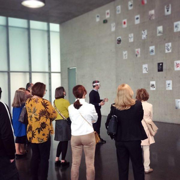 Guided tour for WIGEM Bregenz #kunsthausbregenz #visitbregenz #unprecedentedtimes