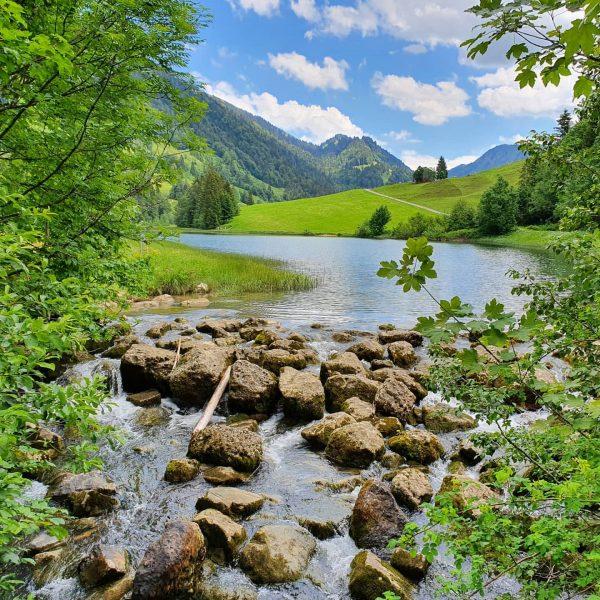 Der Lecknersee bei Hittisau im Bregenzerwald, Vorarlberg . #lecknersee #lecknertal #bregenzerwald #bregenzerwald🌲🌲 #bregenzerwaldliebe ...