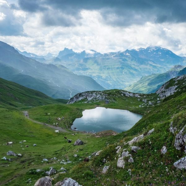 """Even on a """"grey"""" day beautiful. Mountain lake on the way to Stuttgarter ..."""