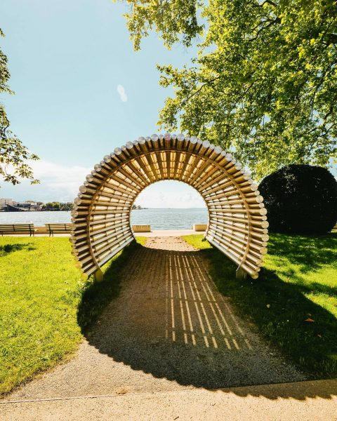 There's a lake at the end of the tunnel! 😁 Molo Bregenz (Bodensee)