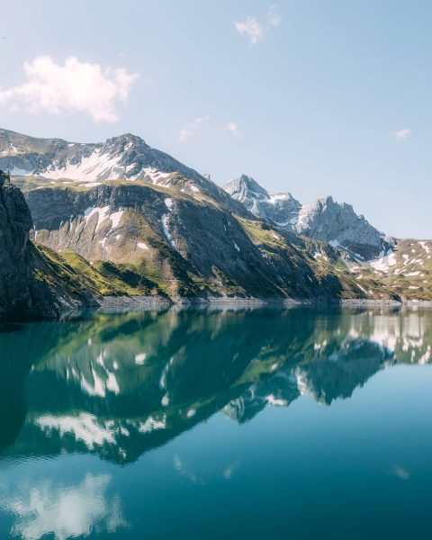 Blissful mornings at this pearl in the austrian alps. Fun fact: Lünersee was ...