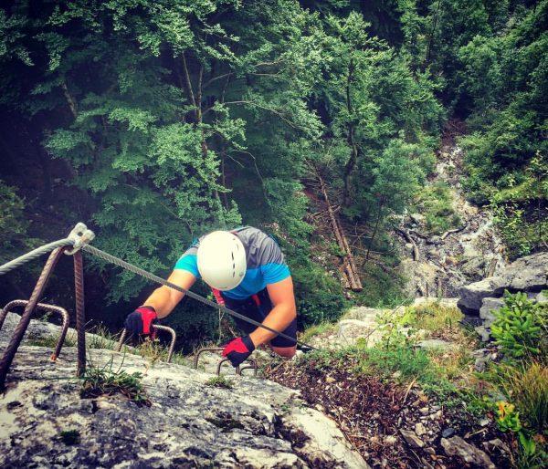 Klettersteig @silvrettamontafon with @spaalpenrose 👏😃☀️ Sankt Anton im Montafon