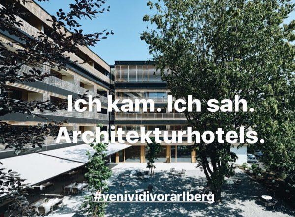 Gleich 7 spannende 'Architektouren' können gebucht werden, um die eindrucksvolle Vorarlberger Architektur zu ...