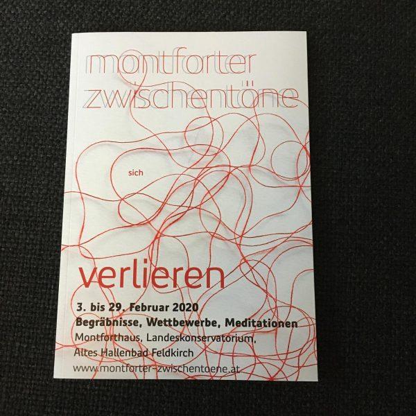 Key Visual zum Schwerpunkt (sich) verlieren von Elisabeth Kopf für die #montforterzwischentöne #feldkirch ...