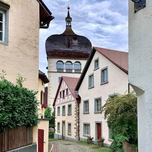 Blick auf den Martinsturm (1601) in der Oberstadt von #bregenz. Gilt als das ...