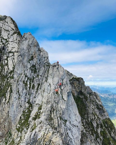 Zimba Ostgrat Part II - Climbing 🏔🧗🏻♂️ . #Zimba#Ostgrat#Brandnertal#Vorarlber#VisitVorarlberg#Climbing#Klettern#Bergsteigen#Mountaineering#HeinrichHüterHütte#Berge#Mountains#Alps#Arcteryx#Ortovox#Petzl#Hanwag#MountainEquipment#Wochenende Zimba, 2.643m